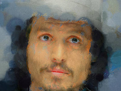 Johnny Depp Digital Art - Johnny Depp Portrait 02 by Yury Malkov