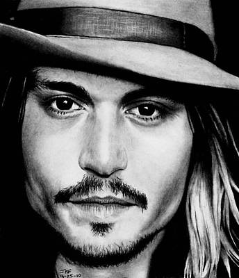 Drawing - Johnny Depp  by Rick Fortson