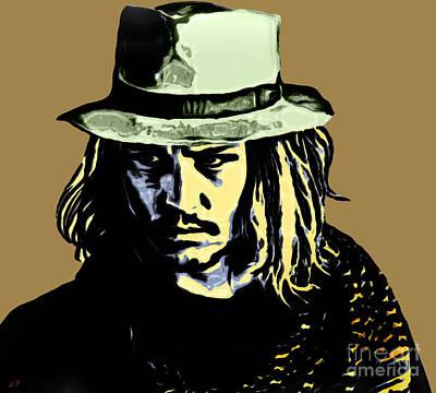 Painting - Johnny Depp by Sergey Lukashin