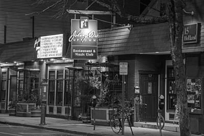 Photograph - Johnny Ds Music Club In Davis Square Somerville Ma Black And White by Toby McGuire