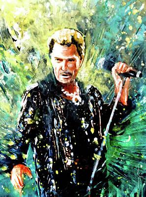 Painting - Johnny Hallyday by Miki De Goodaboom