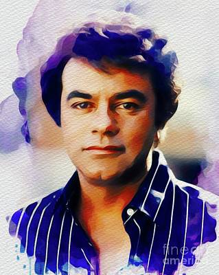 Jazz Painting Royalty Free Images - Johnny Mathis, Music Legend Royalty-Free Image by John Springfield