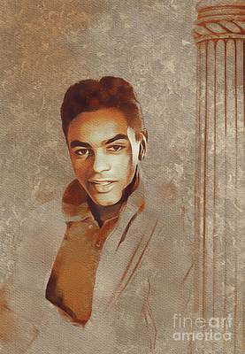 Music Paintings - Johnny Mathis, Music Legend by Esoterica Art Agency