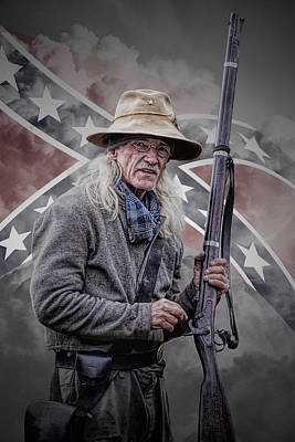 Randall Nyhof Royalty Free Images - Johnny Reb Royalty-Free Image by Randall Nyhof