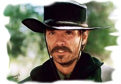 Kevin Costner Painting - Johnny Ringo Of Tombstone by Peter Nowell