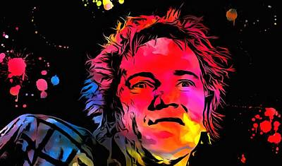 Johnny Rotten Digital Art - Johnny Rotten Paint Splatter by Dan Sproul