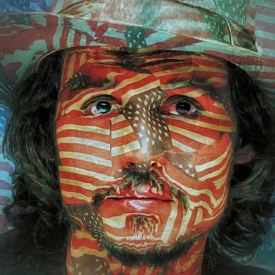 Johnny Depp Digital Art - Johnny The Flag by Yury Malkov
