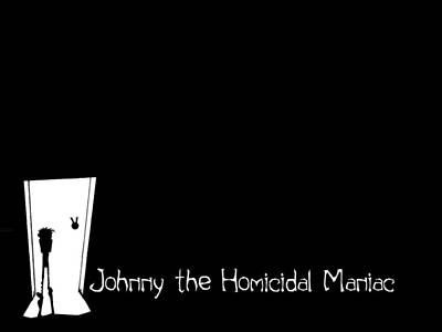 Black Digital Art - Johnny The Homicidal Maniac by Maye Loeser