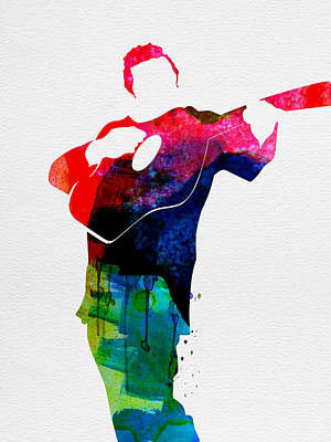 Johnny Watercolor Art Print by Naxart Studio