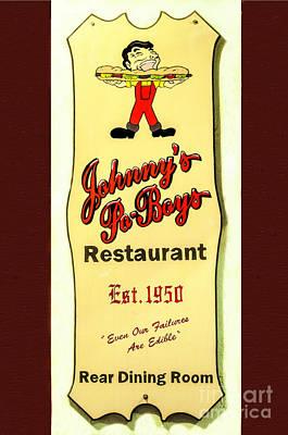 Photograph - Johnny's Po-boys Restaurant by Frances  Ann Hattier