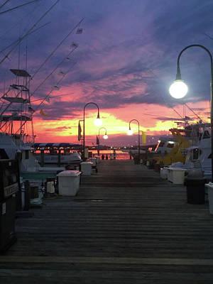Photograph - John's Daughter's Talbot St Pier Sunset by Robert Banach