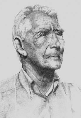 Gioffre Harrington Drawing - Johns Grandpa by An Array of Artistry