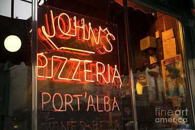 John's Pizzeria Art Print by John Rizzuto
