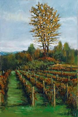 Peeper Painting - John's Vineyard In Autumn by Robert James Hacunda
