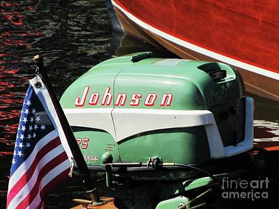 Photograph - Johnson 25hp by Neil Zimmerman