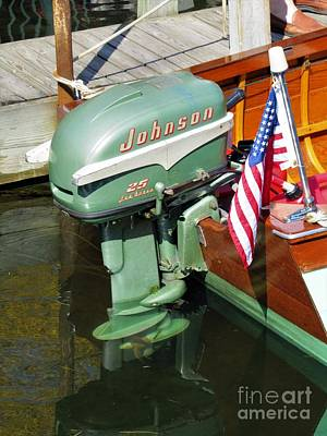 Photograph - Johnson 25hp On Thompson Runabout by Neil Zimmerman