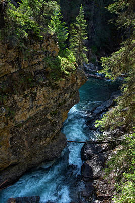 Banff Wall Art - Photograph - Johnson Canyon In Banff National Park, Canada by Dave Dilli