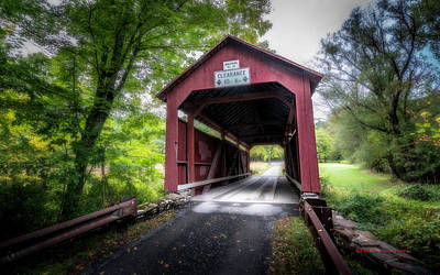 Johnson Covered Bridge Art Print by Marvin Spates