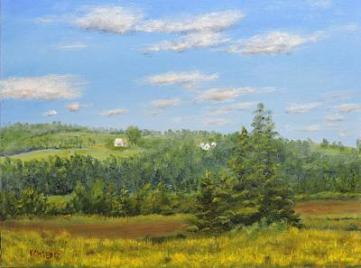 Painting - Johnson Farm Creek Rd. by Ken Weatherbee