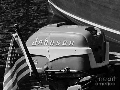 Photograph - Johnson Outboard by Neil Zimmerman