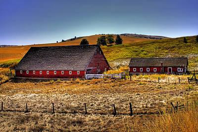 Barn Photograph - Johnson Road Barns by David Patterson