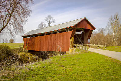Music Royalty-Free and Rights-Managed Images - Johnson Road/Crabtree Covered Bridge  by Jack R Perry