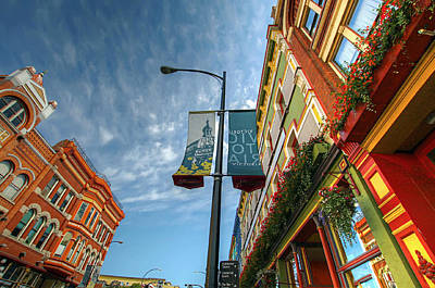 Johnson Street In Victoria B.c. Art Print by David Gn