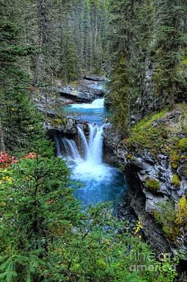 Fairmont Photograph - Johnston Canyon Falls Hike Lower Falls by Wayne Moran