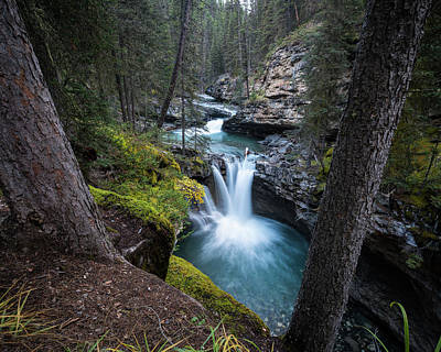 Johnston Canyon Waterfall Art Print