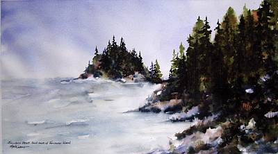 Art Print featuring the painting Johnstone Strait by Marti Green