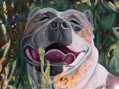 Joie De Vivre Portrait Of A Pit Bull Original