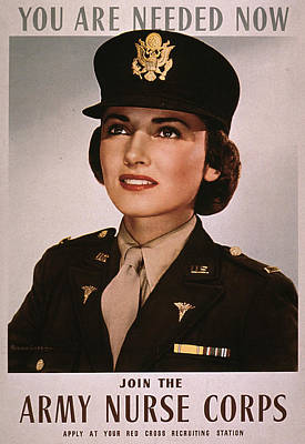 Join The Army Nurse Corps. 1943 Art Print by Everett