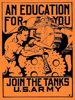 Join The Tanks Art Print by Otis Porritt