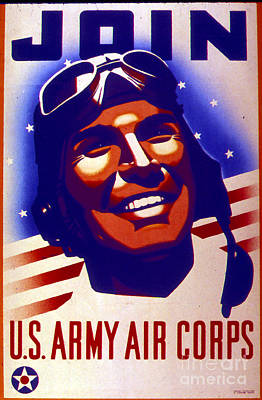 Brave Mixed Media - Join The Us Army Corps World War II Enrollment Poster by R Muirhead Art