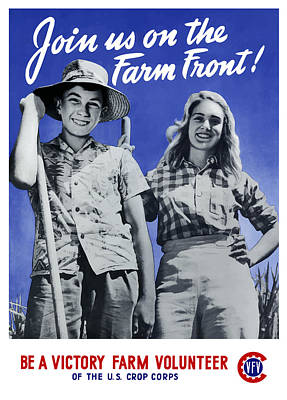 Join Us On The Farm Front Art Print