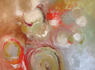 Abstract Expressionist Painting - Joining Together by Linda Monfort