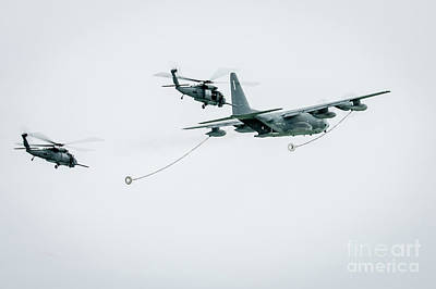 Photograph - Joining Up For In Flight Refueling by Rene Triay Photography