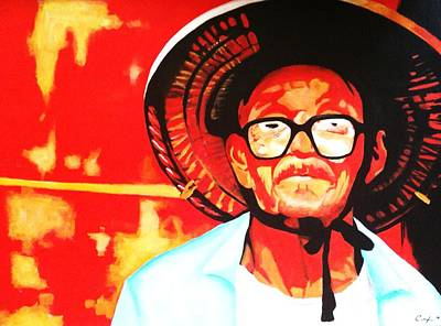 Old Chinese Man Painting - Jojo by Colleen  Auxier