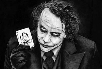 Heath Ledger Drawing - Joker by Alexander Gradjushko