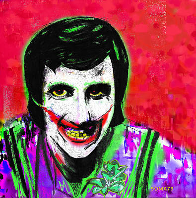Joker Balki Bartokomus - Red Remix Art Print