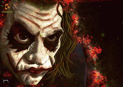 Digital Art - The Clown Caricature by Abraham Szomor