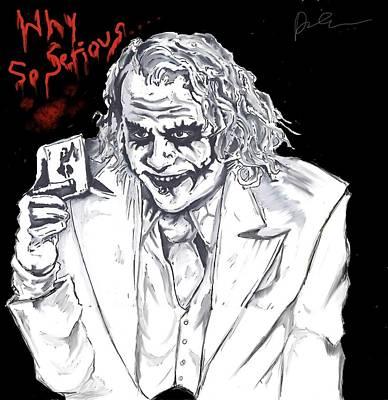 Heath Ledger Digital Art - Joker Dark Knight by Donato Ciarlo