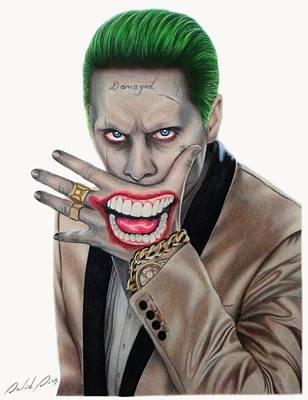 Drawing Drawing - Joker - Jared Leto by David Dias