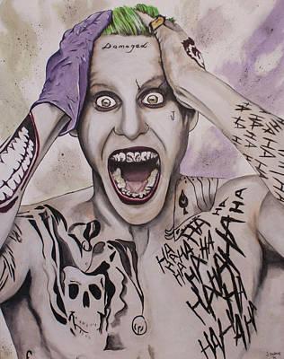 Jared Leto Painting - Joker Jared Leto by Jamie Bishop
