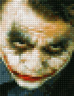 Heath Ledger Photograph - Joker Lego Print by Paul Van Scott
