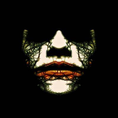 Digital Art - Joker Mask by Anton Kalinichev