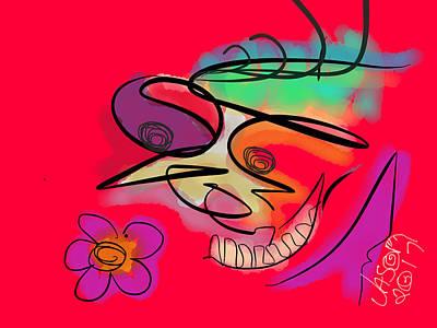Digital Art - Joker V2 by Jason Nicholas
