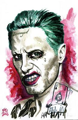 Jared Leto Painting - Jokerleto by Ken Meyer jr