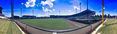 Clouds Photograph - Joker Merchant Stadium Panoramic by Kendall Tabor