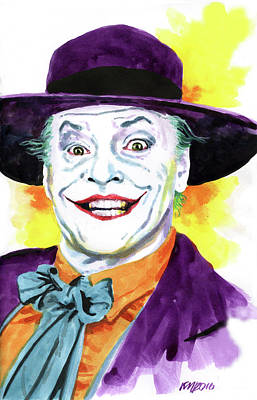 Jack Nicholson Painting - Jokernicholson by Ken Meyer